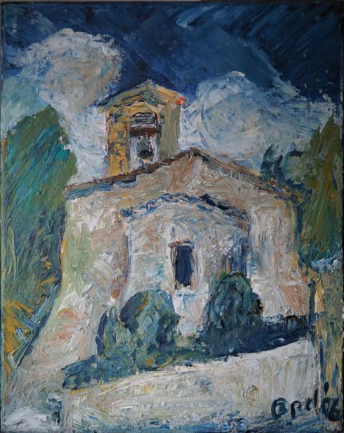 Chiesa San Sebastiano Umbrien ITÖlmalerei28x35 2006