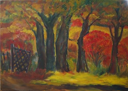 Herbst in Grießen Acrylmalerei70x50 2018