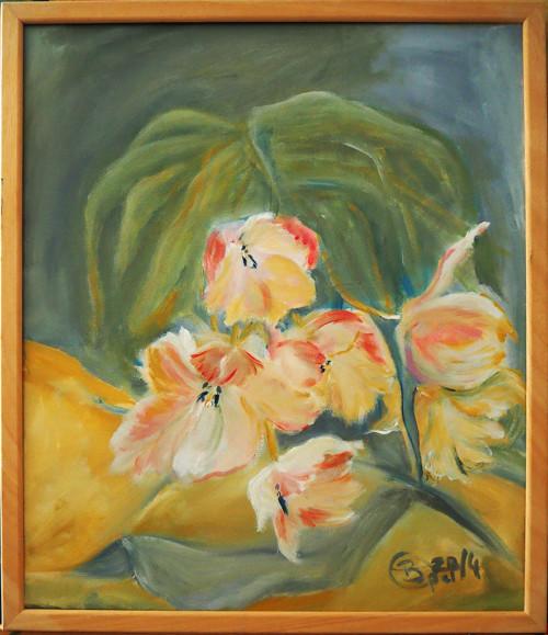 Tulpen Acrylmalerei53x63 mit Rahmen 2014