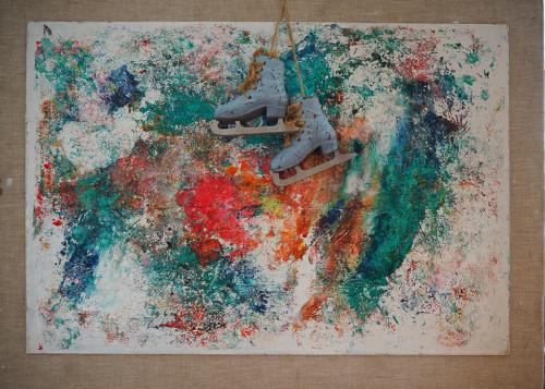 Winterinstallation Acrylmalerei65x49 2020